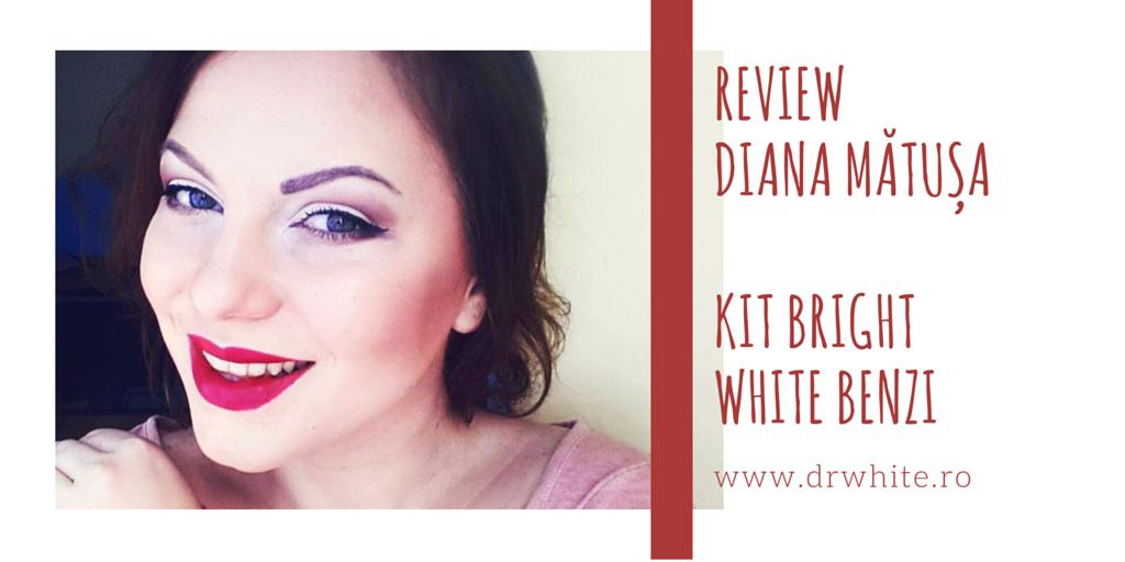 benzile Bright White pentru albirea dintilor